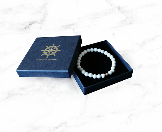 White Marble Rose Gold + Exklusiv armbadsbox