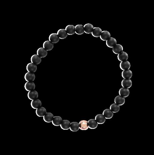Black Rose Gold Marble + Exklusiv armbandsbox