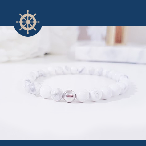 White Marble Silver + Exklusiv armbandsbox
