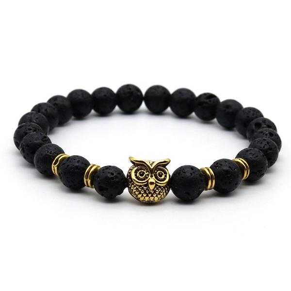 Owl Head Gold Black