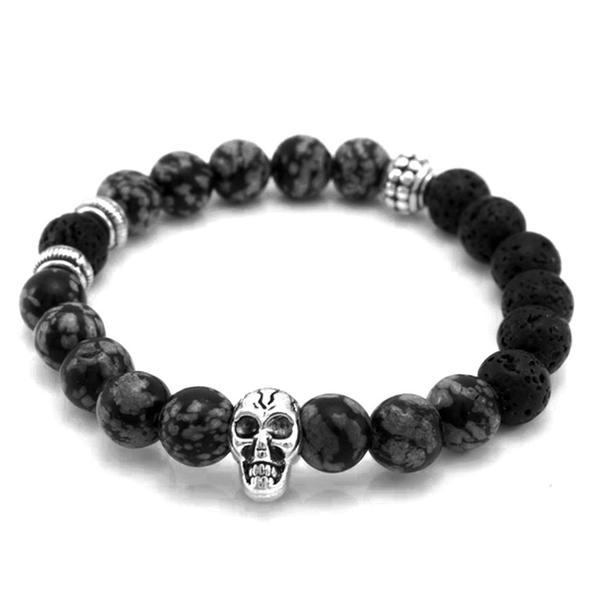Grey Skull Armband