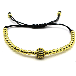 Diamond Ball Bracelet Gold