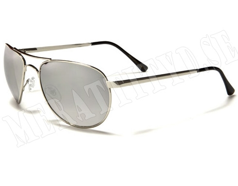 AirForce Pilot - Silver & Spegelglas - Solglasögon