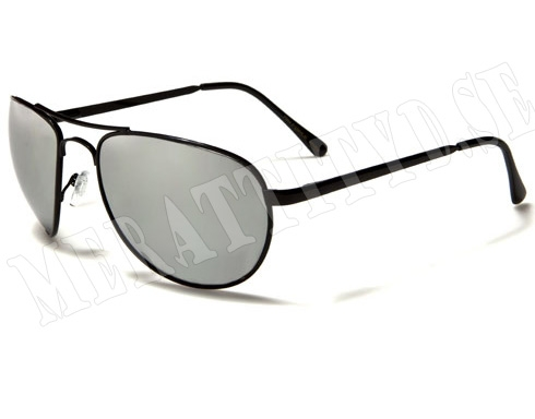 AirForce Pilot - Svart & Spegelglas - Solglasögon