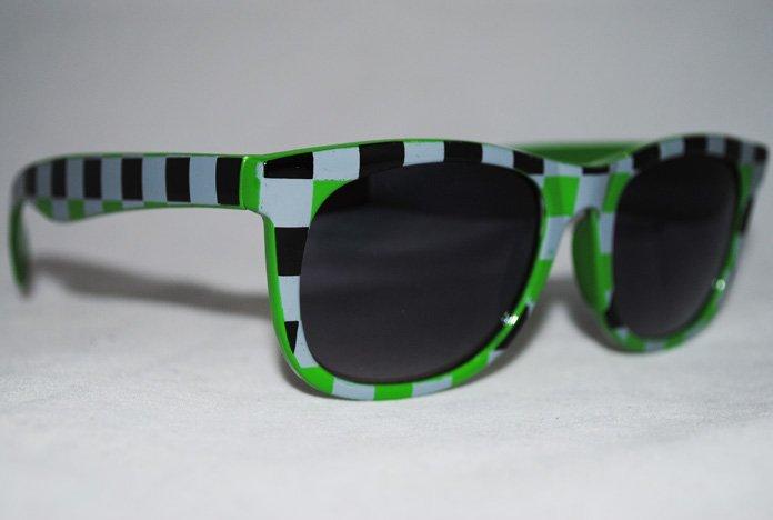 Wayfarer Chess - Grön - Solglasögon