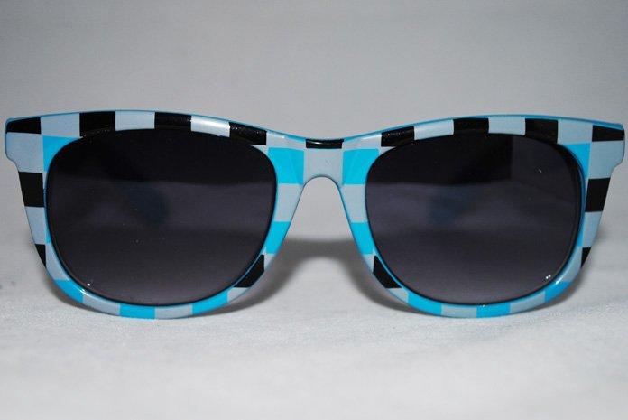 Wayfarer Chess - Blå - Solglasögon