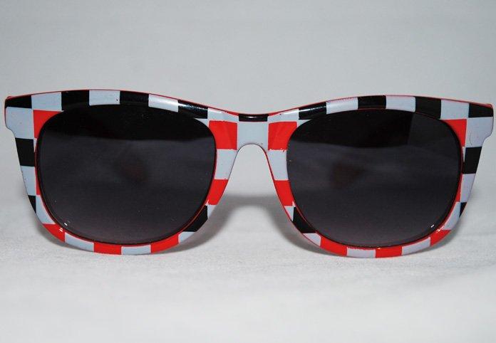 Wayfarer Chess - Röd - Solglasögon