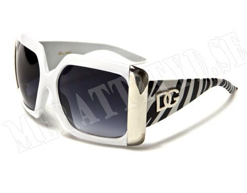 DG Big - Vit - Solglasögon