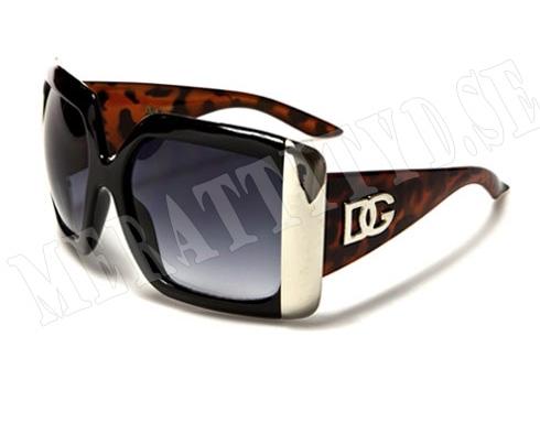 DG Big - Svart med leopard - Solglasögon