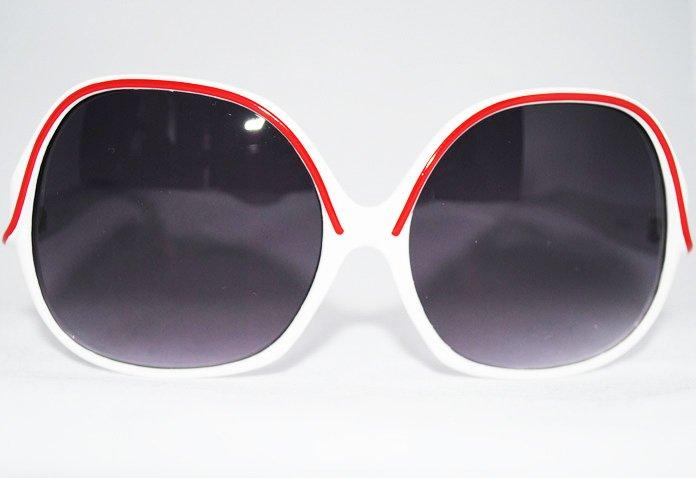 Jackie O - Vita - Solglasögon