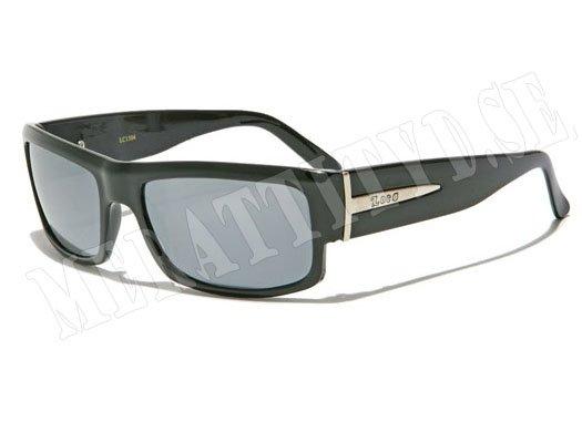 Locs Silver - Svart med spegelglas - Solglasögon