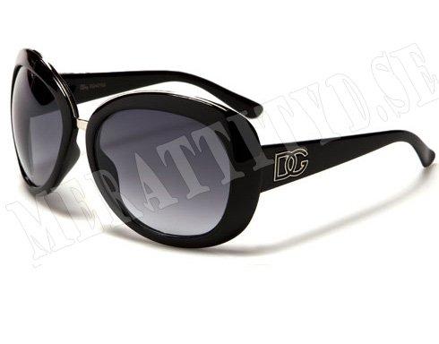 DG Cateye Deluxe - Svart/Silver - Solglasögon