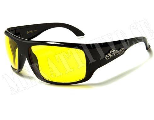 Choppers Ride - Svarta med gult glas - Solglasögon