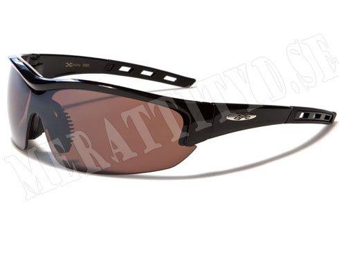 XLoop Rubber - Svarta med brunt glas - Solglasögon