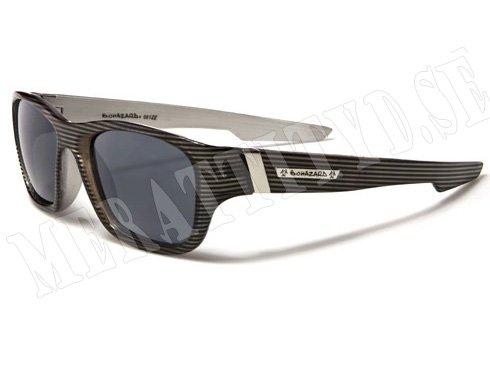 Biohazard Wayfarer Stripes - Svart/Grå med mönster - Solglasögon