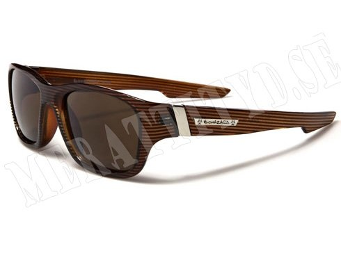 Biohazard Wayfarer Stripes - Brun med mönster - Solglasögon