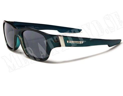Biohazard Wayfarer Stripes - Turkos med mönster - Solglasögon