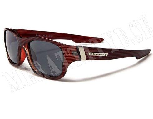 Biohazard Wayfarer Stripes - Röd med mönster - Solglasögon