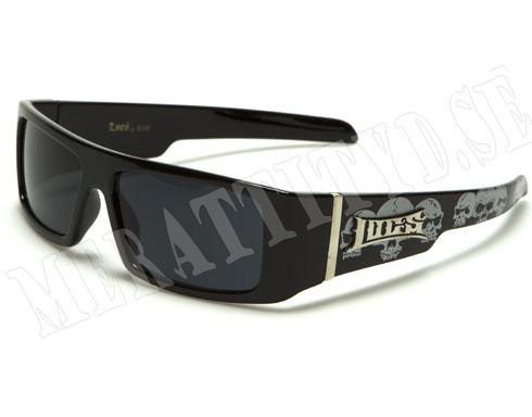 Locs Biker Kids - Svart med mönster - Barnsolglasögon