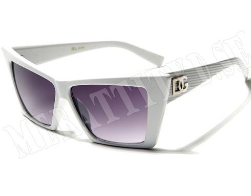 DG Space - Vita med ränder - Solglasögon