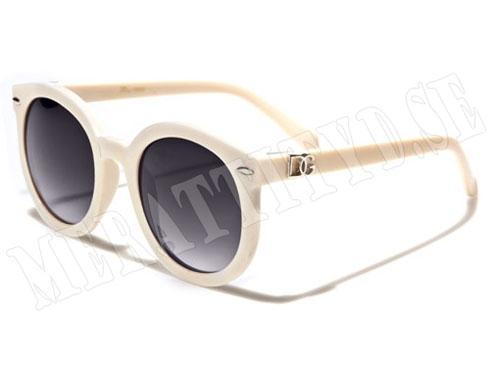 DG Round - Vit - Solglasögon