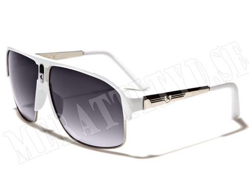 Khan - Vit - Solglasögon