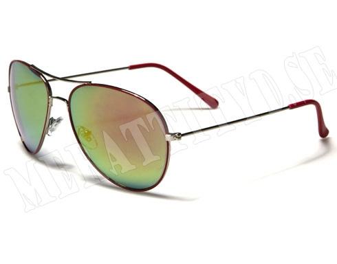 Pilot Force - Röd - Solglasögon