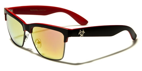 Biohazard Wayfarer - Röda - Solglasögon