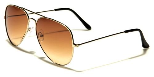 AirForce Pilot - Guld & Brun/Gult glas - Solglasögon