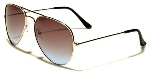 AirForce Pilot - Guld & Blå/Grönt glas - Solglasögon
