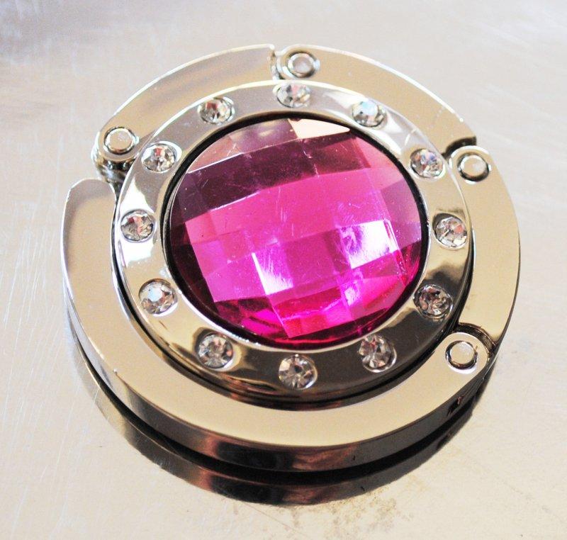 Väskhängare silver rosa
