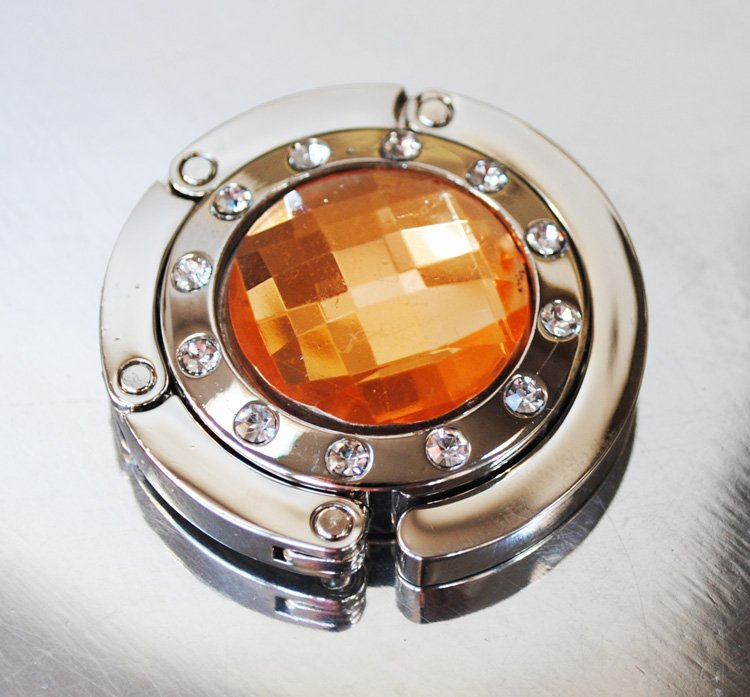Väskhängare i silver och orange