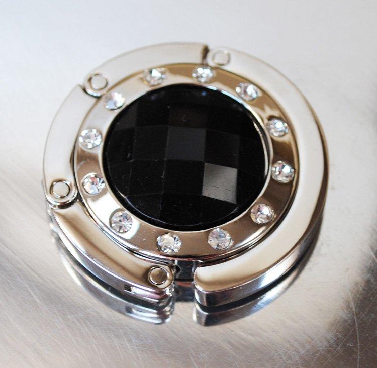 Väskhängare i silver och svart