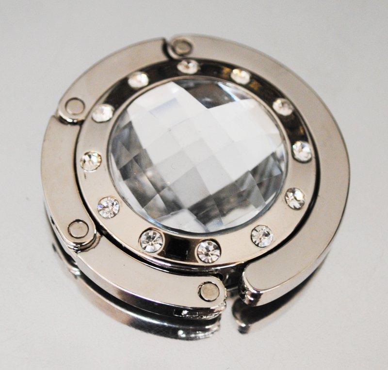 Väskhängare i silver och klar/genomskinlig