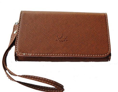 Mobilväska / plånbok - SUPERIOR - brun