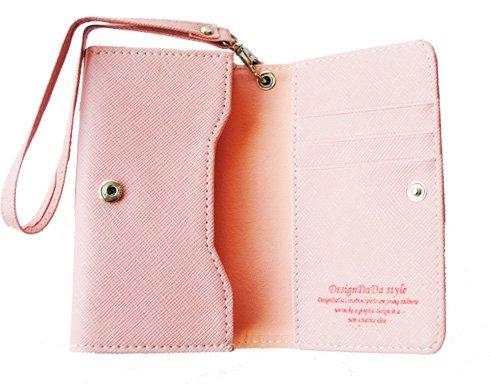 Mobilväska / plånbok - SUPERIOR - ljusrosa