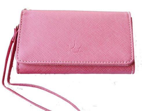 Mobilväska / plånbok - SUPERIOR - rosa