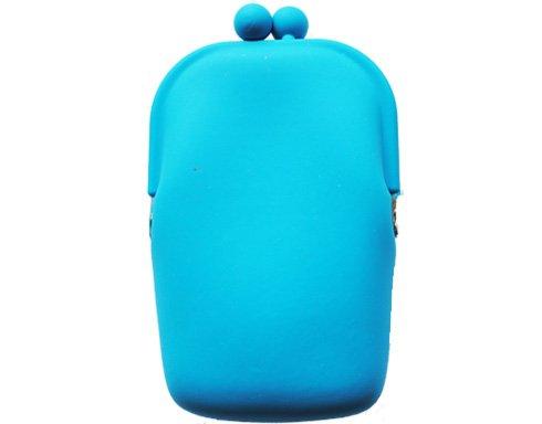 Silicon Retro - blå - mobilväska/plånbok