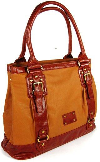 School Tote - handväska - två bruna nyanser
