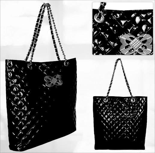 City - quiltad - handväska - svart