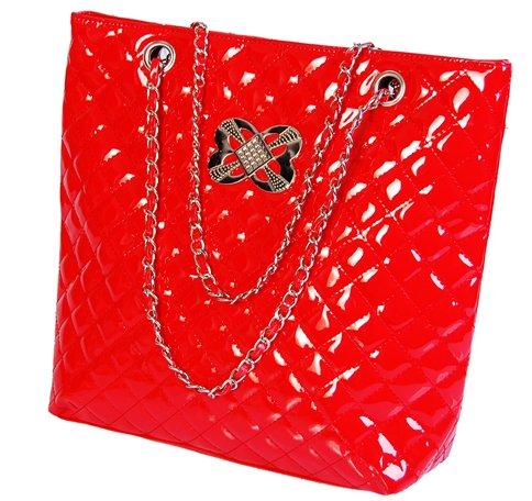 City - quiltad - handväska - röd