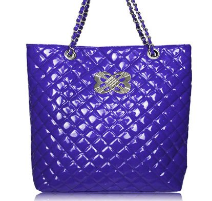 City - quiltad - handväska - lila