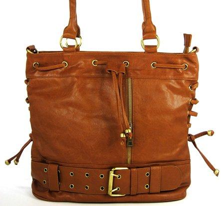 Drawstring - handväska - brun