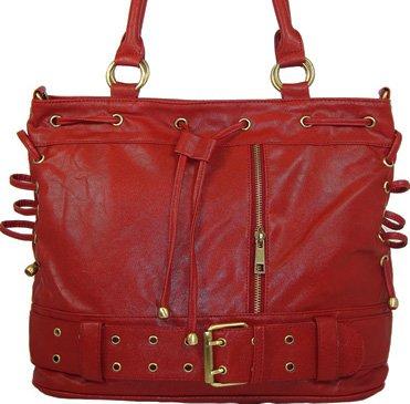 Drawstring - handväska - röd