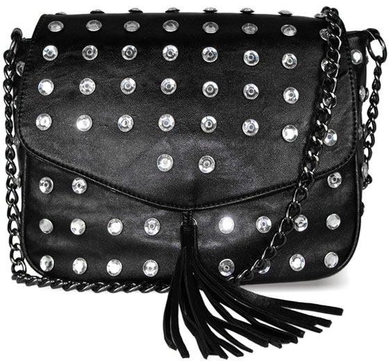 Black & Diamante - handväska - svart