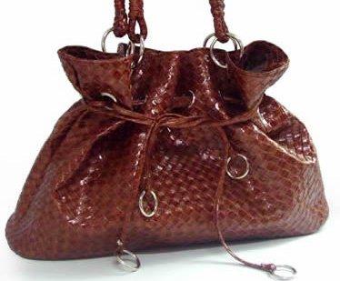 Plaited style - handväska - brun