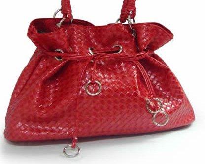Plaited style - handväska - röd