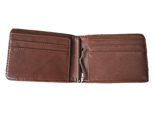 Made - Quiltad plånbok - brun