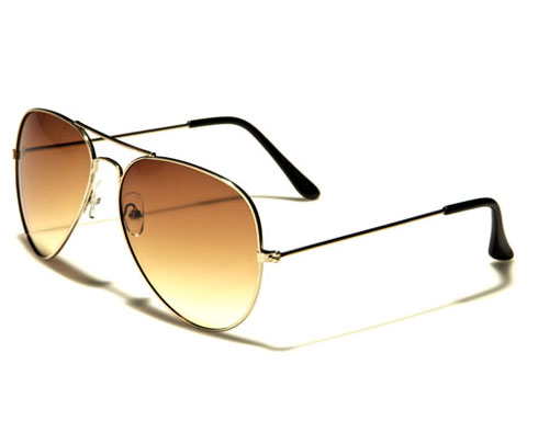 AirForce Pilot - Guld bruna - Solglasögon