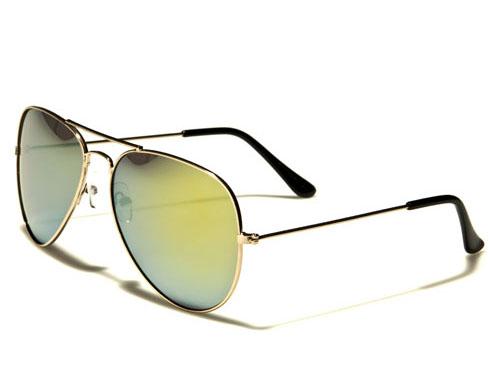 AirForce Pilot - Guld gröna - Solglasögon